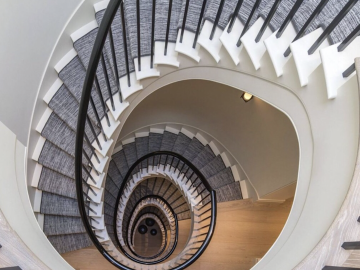 Helical concrete stairs-St Johns Wood