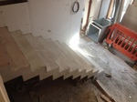Constructed in a re-furbished pub in London. This stair is 1 metre wide.